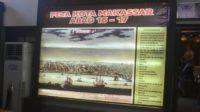 Peta Kota Makassar Abad 16-17, di Museum Kota Makassar. (foto: mfaridwm/palontaraq)