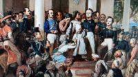 Lukisan ilustrasi Pangeran Diponegoro ditipu oleh Belanda dalam suatu perundingan damai. (foto: ist/palontaraq)