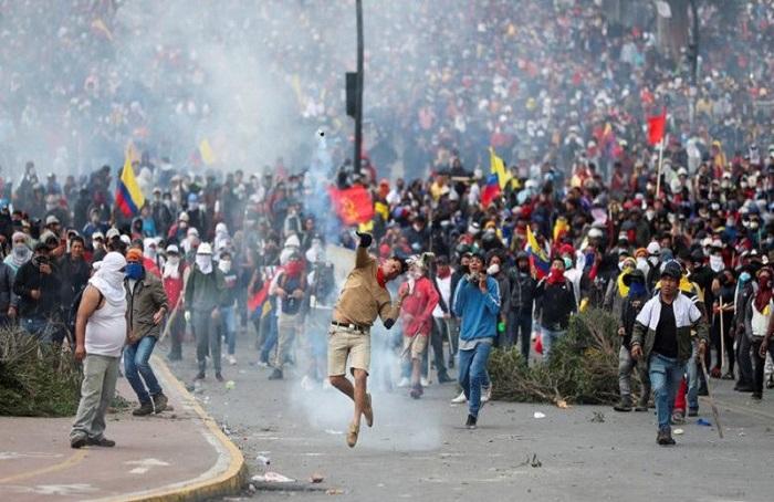 Kerusuhan di Equador. (foto: ist/palontaraq)