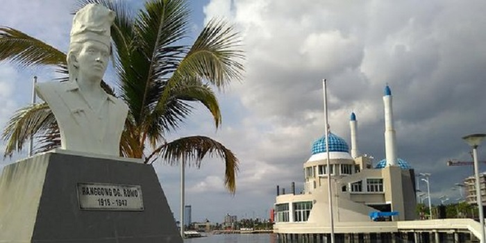 Taman Tokoh Sejarah disamping Masjid Amirul Mukminin. (foto: ist/palontaraq)