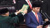 Pelantikan dan Pengambilan Sumpah Presiden RO 2019-2024, Joko Widodo. (foto: ist/palontaraq)