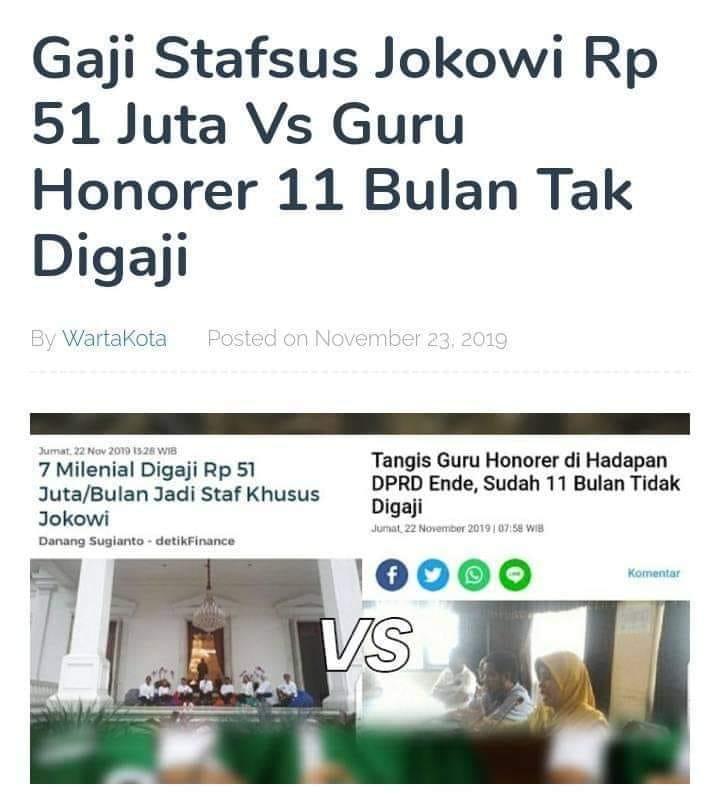 Menyoal Gaji Staf Khusus? (foto: ist/palontaraq)