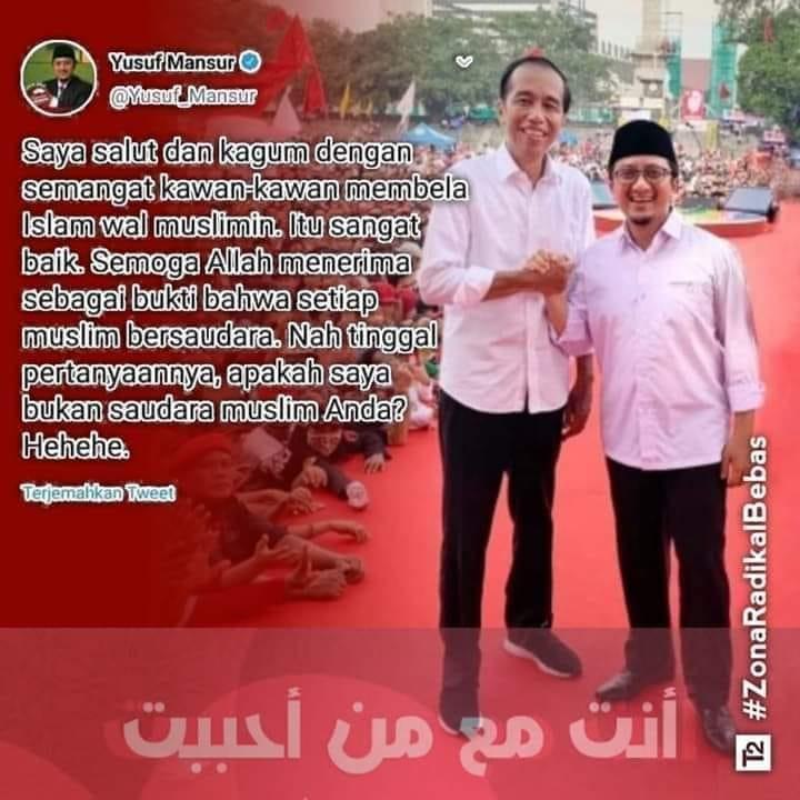 Jokowi dan Ustadz YM. (foto: ist/palontaraq)