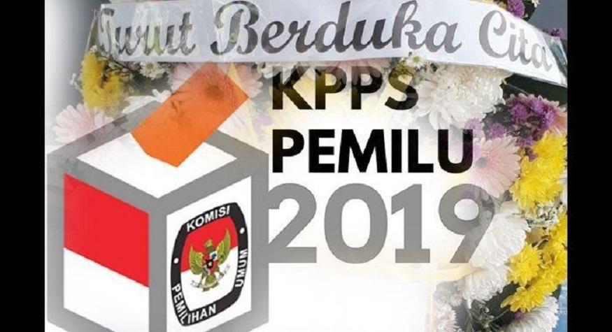 Ratusan Petugas KPPS Pemilu 2019 meninggal tenggelam beritanya akibat pengalihan isu yang luar biasa. (foto: ist/palontaraq)