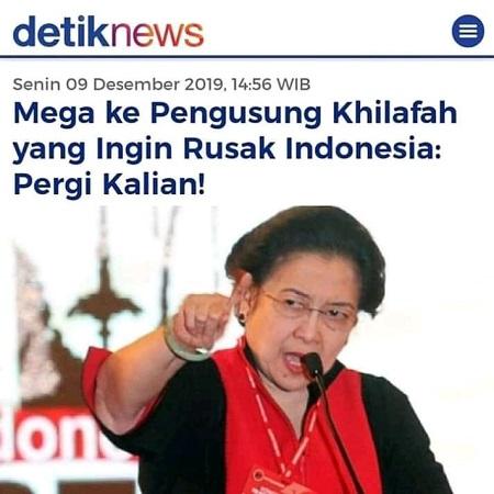 Ujaran Megawati di Portal Berita detiknews. (foto: ist/palontaraq)