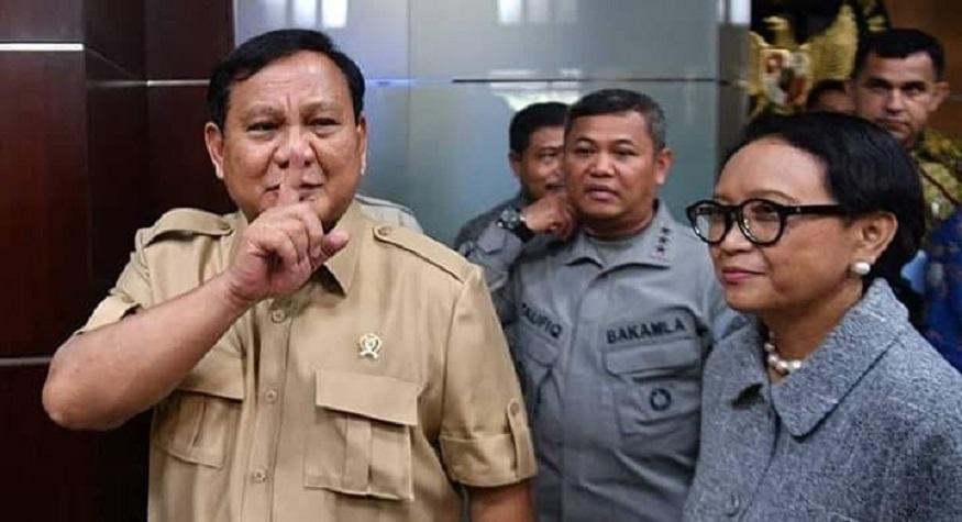 Prabowo Menhan dan Retno Marsudi Menlu dalam suatu pertemuan membahas Klaim China atas Natuna. (foto: ist/palontaraq)