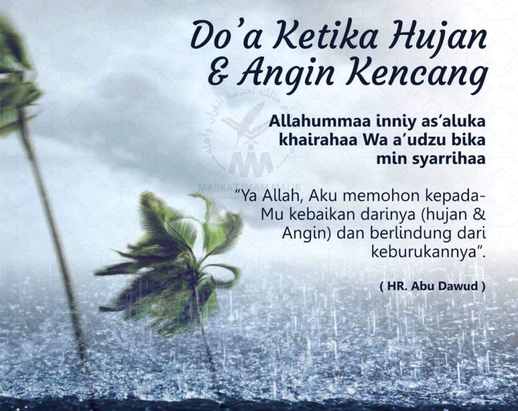 Doa Ketika Hujan dan Angin Kencang. (foto: ist/palontaraq)
