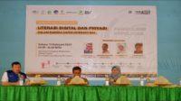 Seminar Literasi Digital dan Privasi Online di Aula Ponpes Modern Putri IMMIM Pangkep, Selasa (11/2/2020). (foto: ist/palontaraq)