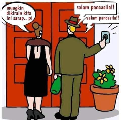 Salam Pancasila. (Ilustrasi: ist/palontaraq)