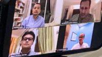 Rapat Koordinasi Komisi X via Daring dengan Mendikbud dan jajaran memutuskan meniadakan Ujian Nasional, Senin malam (23/3/2020). (foto: ist/palontaraq)