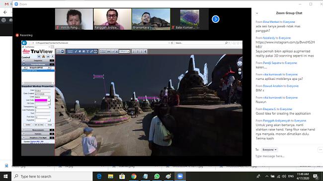 Menyimak Penjelasan Brahmantara terkait Digitalisasi Konservasi Borobudur. (foto: ist/palontaraq)