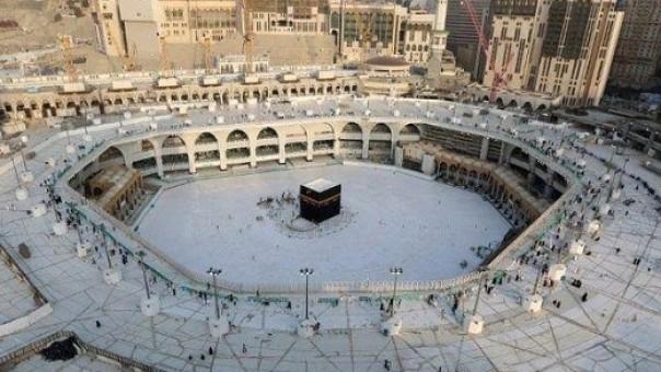 Ka'bah dan Masjidil Haram saat ini ditengah pandemi Covid-19. (foto: ist/palontaraq)