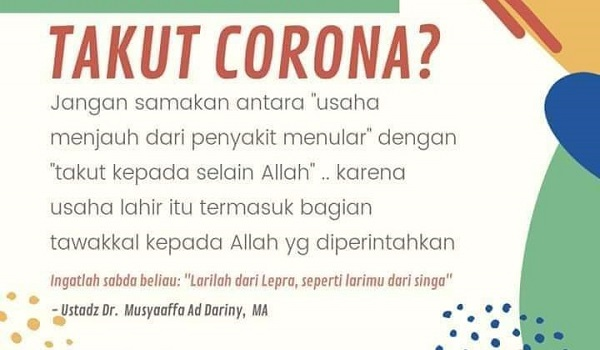 Message of Islamic about how to respond to an epidemic