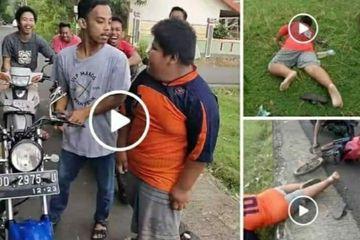 Viral Bully Sekelompok Anak Muda terhadap Rizal, Anak umur 12 Tahun, penjual jalangkote di Bonto-bonto, Ma'rang. (foto: ist/palontaraq)