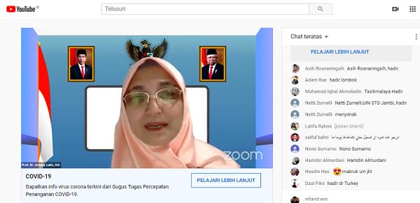 Saat Rektor UIN Syarif Hidayatullah memberikan sambutan. (foto: ist/palontaraq)