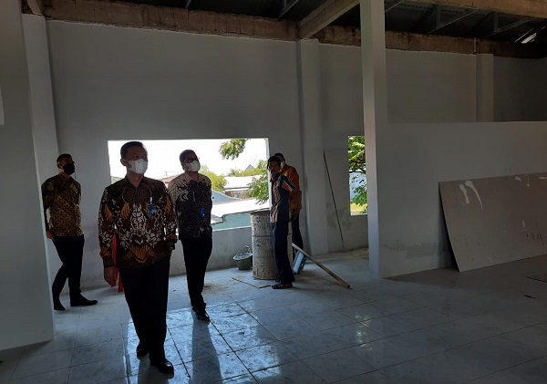 Kunjungan Direksi Askrindo ke Gedung Aisyiyah Pangkep. (foto: ist/palontaraq)